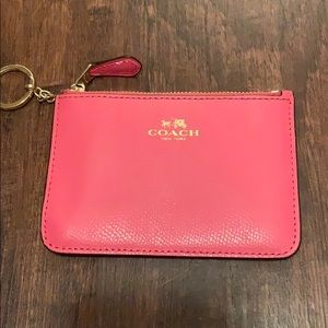 Pink Coach Card Keychain